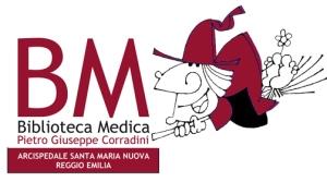 logo della biblioteca con Befana